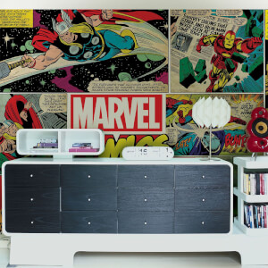 Marvel Retro Comic Pop Art Wall Mural