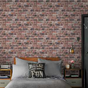 Fresco Industrial Red Brick Wallpaper
