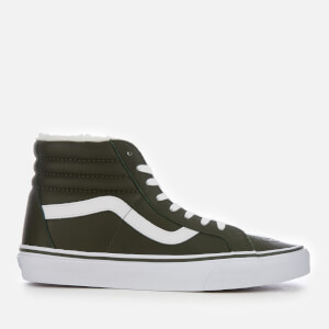 Vans Men's Sk8-Hi Reissue Leather/Fleece Trainers - Olive Night/True White