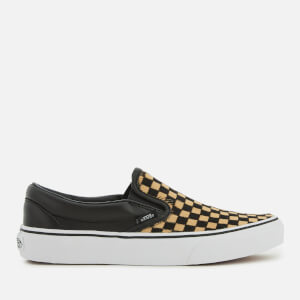 Vans Classic Slip-On Trainers - Checkerboard/True White