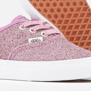 Vans Toddlers' Authentic Lurex Glitter Trainers - Pink/True White: Image 4