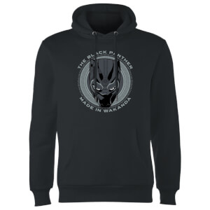 Felpa con cappuccio Black Panther Made In Wakanda - Nero