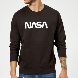 Sweat Homme Logo Worm NASA - Noir