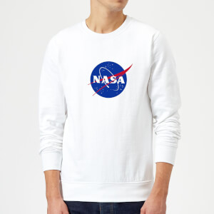 Sweat Homme Logo Insignia NASA - Blanc