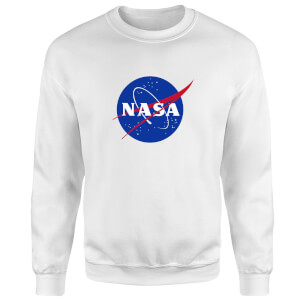 NASA Logo Insignia Sweatshirt - White