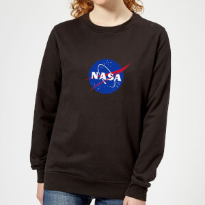 NASA Logo Insignia Women's Sweatshirt - Black