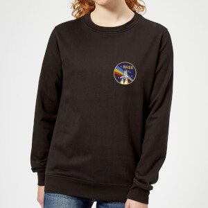 NASA Vintage Rainbow Shuttle Dames Trui - Zwart