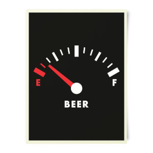 Beershield Beer Fuel Art Print