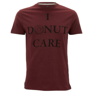 Threadbare Men's Donut Care T-Shirt - Deep Plum Marl