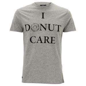 Threadbare Men's Donut Care T-Shirt - Grey Marl