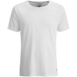 T-Shirt Homme Épaules Texturées Snatch Ringspun - Blanc