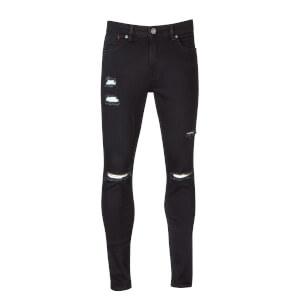 Ringspun Men's Hercules Ripped Skinny Jeans - Black