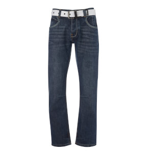 Crosshatch Men's New Baltimore Jeans - Mid Wash