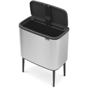 Brabantia Bo Touch Bin 36L - Matt Steel Fingerprint Proof