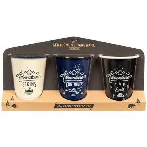 Gentlemen's Hardware Enamel Tumblers (Set of 3)