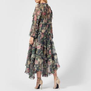 Zimmermann Women's Iris Ruffle Resort Dress - Charcoal Floral: Image 2