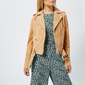 MICHAEL MICHAEL KORS Women's Classic Suede Moto Jacket - Tan