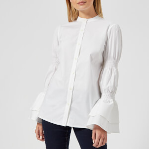MICHAEL MICHAEL KORS Women's Smock Sleeve Shirt - White
