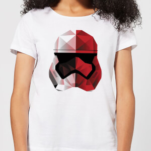 Star Wars Cubist Trooper Helmet White Women's T-Shirt - White