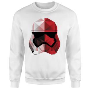 Sweat Homme Casque Stormtrooper Effet Cubiste - Star Wars - Blanc