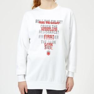 Star Wars Dark Side Echo White Women's Sweatshirt - White