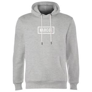 Narcos Box Logo Grey Hoodie - Grey