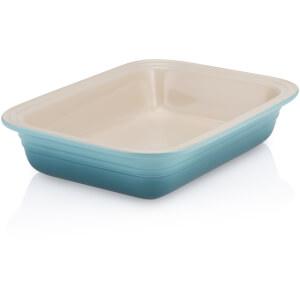 Le Creuset Stoneware Deep Rectangular Dish - 29cm - Teal
