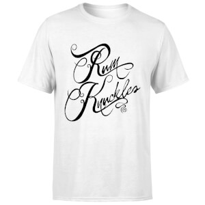 Rum Knuckles Typography T-Shirt - White