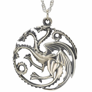 Collier Argent Maison Targaryen - Game of Thrones