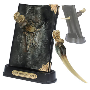 Harry Potter Basilisk Fang and Tom Marvolo Riddle's Diary Sculpture