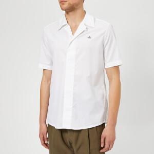 Vivienne Westwood Men's Firm Poplin Midnight Short Sleeve Shirt - White