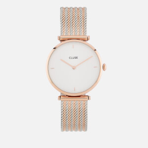 Cluse Women's Mixed Mesh Watch - Gold/Silver