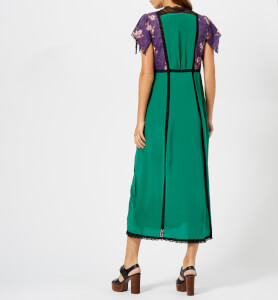 Coach 1941 Women's Lace Embroidered Dress - Emerald Green: Image 2