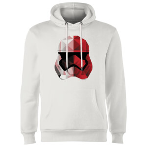 Star Wars Cubist Trooper Helmet White Hoodie - White