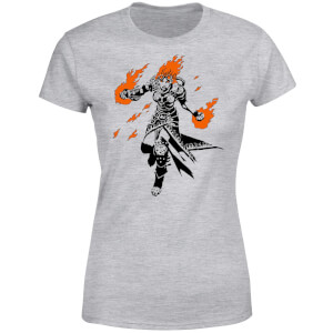 Magic The Gathering Chandra Character Art Women's T-Shirt - Grey