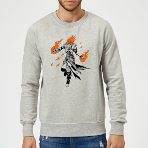 Magic The Gathering Chandra Character Art Sweatshirt - Grey
