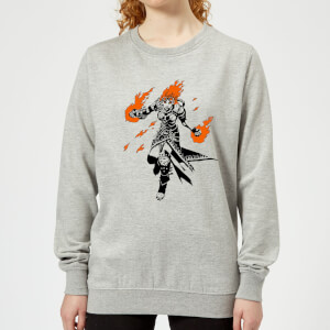 Sweat Femme Chandra Design - Magic : The Gathering - Gris