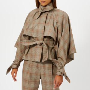 Zimmermann Women's Unbridled Cape Tie Jacket - Tan Check