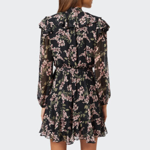 Zimmermann Women's Fleeting Flounce Mini Dress - Black Wisteria Floral: Image 2