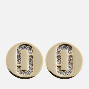 Marc Jacobs Women's Double J Pave Studs - Crystal/Gold