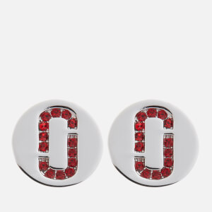 Marc Jacobs Women's Double J Pave Studs - Red/Silver