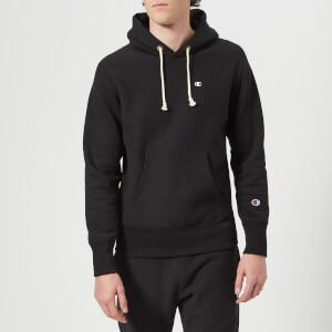 Champion Men's Hooded Sweatshirt - Black: Image 1