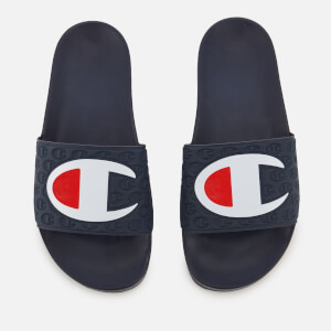 Champion Men's Logo Pool Slide Sandals - Navy