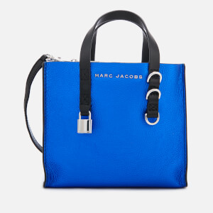 Marc Jacobs Women's Mini Grind Metallic Tote Bag - Sapphire