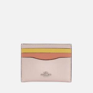Coach Women's Flat Card Case - Ice Pink Multi: Image 1