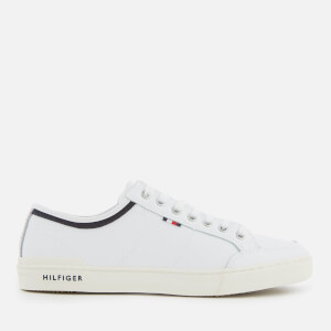 Tommy Hilfiger Men's Core Leather Low Top Trainers - White