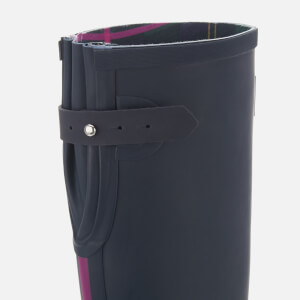 Joules Women's Field Back Adjustable Tall Wellies - French Navy: Image 4