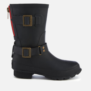 Joules Women's Mid Biker Wellies - Black