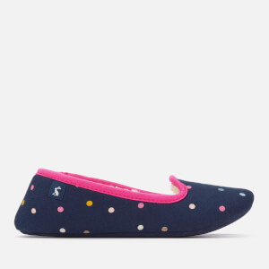 Joules Women's Dreama Fleece Lined Printed Slippers - French Navy Spot