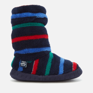 Joules Kids' Padabout Fleece Lined Slipper Socks - Multi Stripe